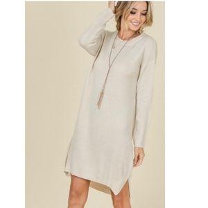 Dresses & Skirts - Beige Sweater Dress